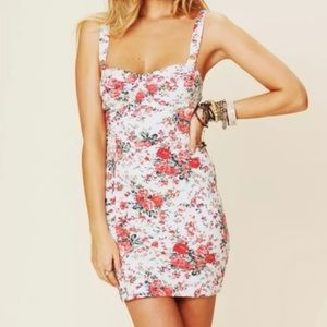 Free People Floral Bustier Bodycon Dress
